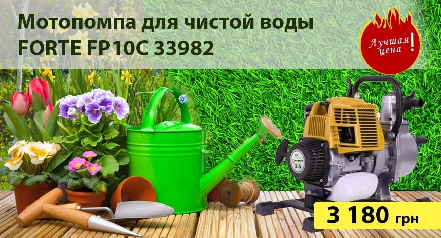 Мотопомпа FORTE FP10C 33982 купить или заказать Киев