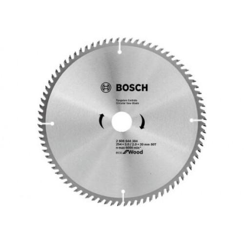 Диск пильный по дереву Bosch Eco AL 254x30-80T 2608644384
