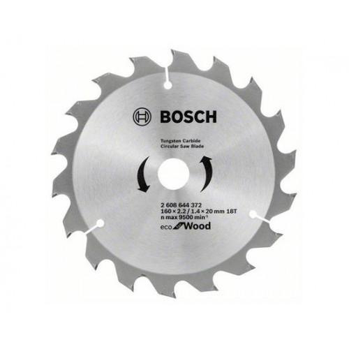 Диск пильный по дереву Bosch 160x20/16x18T ECO for Wood 2608644372
