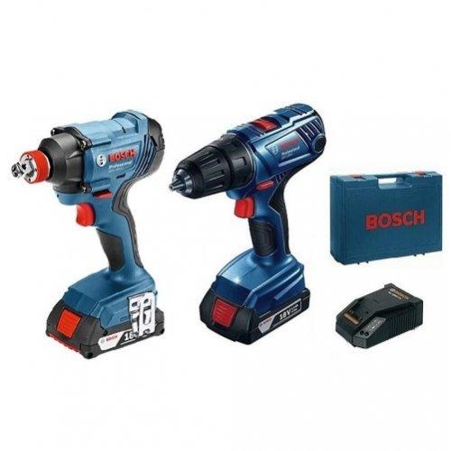 Набор аккумуляторного инструмента Bosch: гайковерт GDX 180 LI + шуруповерт GSR 180 LI (06019G5222)