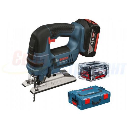 Аккумуляторный лобзик Bosch GST 18 V-LI B (L-Boxx) (06015A6102)