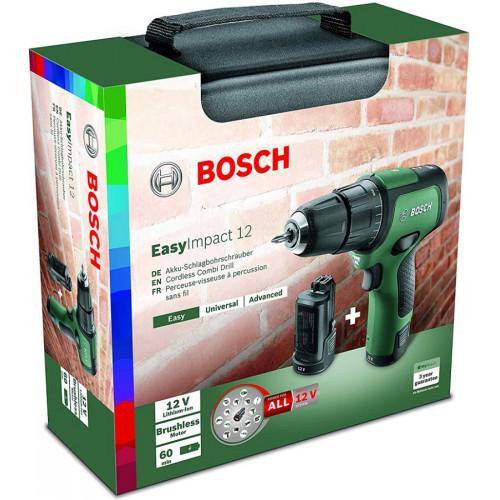 Аккумуляторная ударная дрель-шуруповерт Bosch EasyImpact 12 (каркас) (06039B6102)