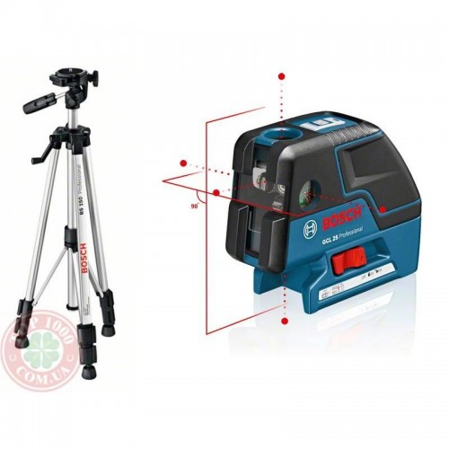 Комбинированый лазер BOSCH GCL 25 + Штатив BS 150
