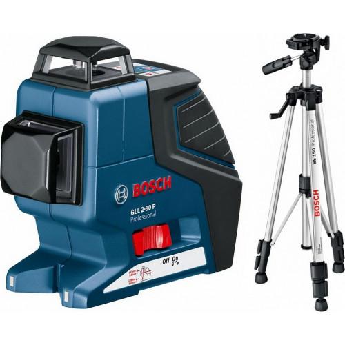 Линейный лазерный нивелир BOSCH GLL 2-80 P + Штатив BS 150