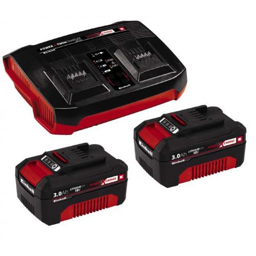 Зарядное устройство Einhell 18V 2x3,0Ah Twincharger Kit Power-X-Change (4512083)