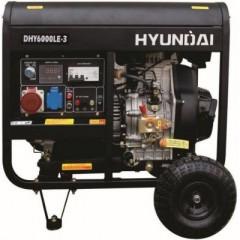 Дизельный трехфазный генератор Hyundai DHY 6000LE-3