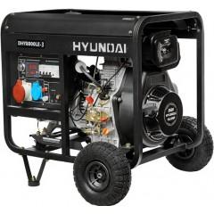 Дизельный трехфазный генератор Hyundai DHY 8000LE-3