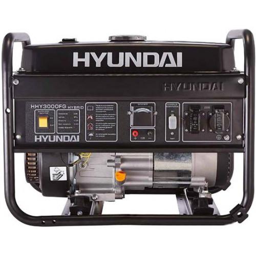 Гибридный (газ/бензин) генератор Hyundai HHY 3000FG