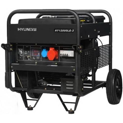 Бензиновый трехфазный генератор Hyundai HY 12000LE-3