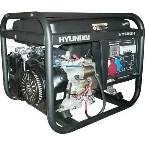 Бензиновый трехфазный генератор Hyundai HY 9000LE-3