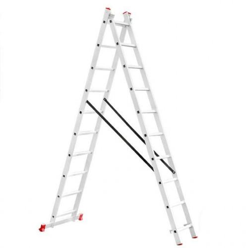 Лестница алюминиевая INTERTOOL LT-0210