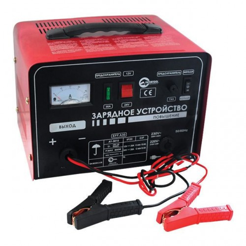 Зарядний пристрій 12-24В, 600Вт, 230В, 30/20А INTERTOOL AT-3015