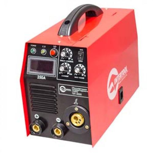 Полуавтомат сварочный инверторного типа комбинированный 7,1 кВт, 30-250 А., проволока 0,6-1,2 мм., электрод 1,6-5,0 мм INTERTOOL DT-4325