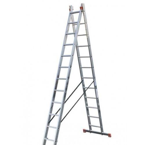 Двухсекционная лестница Dubilo KRAUSE 2x12 ступеней
