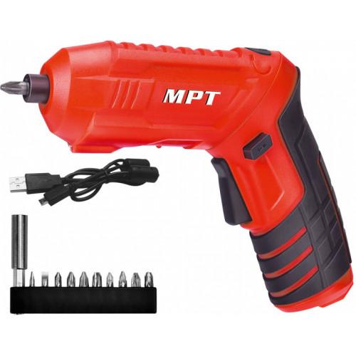 Отвертка аккумуляторная MPT MCSD4006.1 + аксессуары 10шт