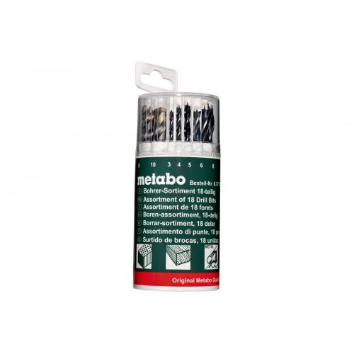 Комбинированный набор сверл Metabo (18 шт.) 627190000
