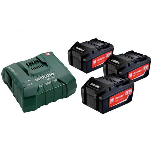 Базовый комплект аккумуляторов Metabo Li-Power 3 x 5,2 Ач, ASC Ultra (685061000)