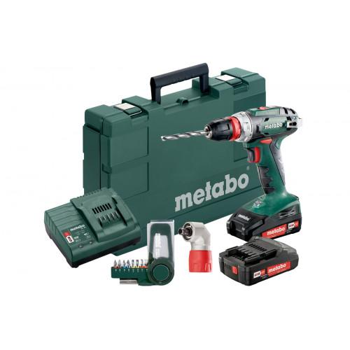Аккумуляторная дрель-шуруповерт Metabo BS 18 Quick Set + набор бит (602217870)