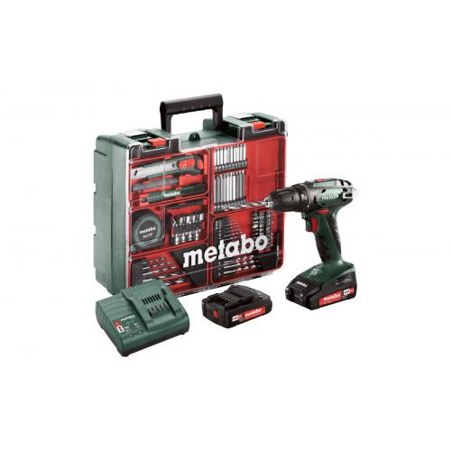 Аккумуляторная дрель-шуруповерт Metabo BS 18 Mobile Workshop 74 (602207880)