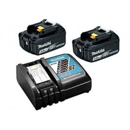 Набор аккумуляторов Makita LXT BL1830Bx2, DC18RC (DLXMUA182RC2)