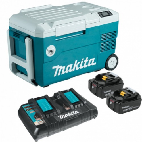 Аккумуляторный холодильник, MAKITA DCW180Z, BL1850Bx2, DC18RD (SET-DCW180-PT2)