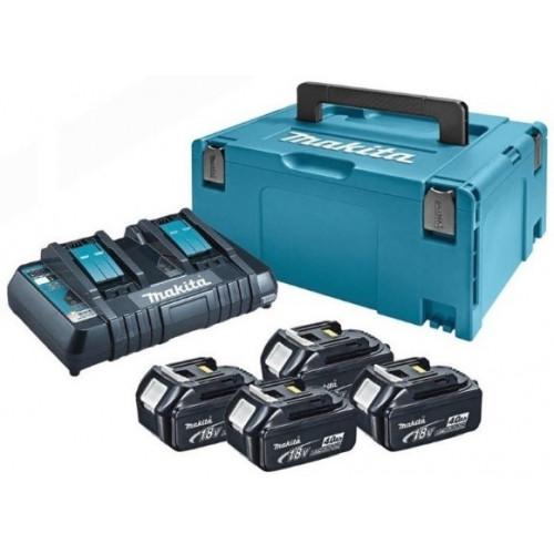 Набор аккумуляторов Makita LXT BL1840x4, DC18RD 197156-9