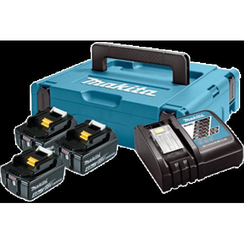 Набор аккумуляторов Makita LXT BL1840x3, DC18RC 197495-7
