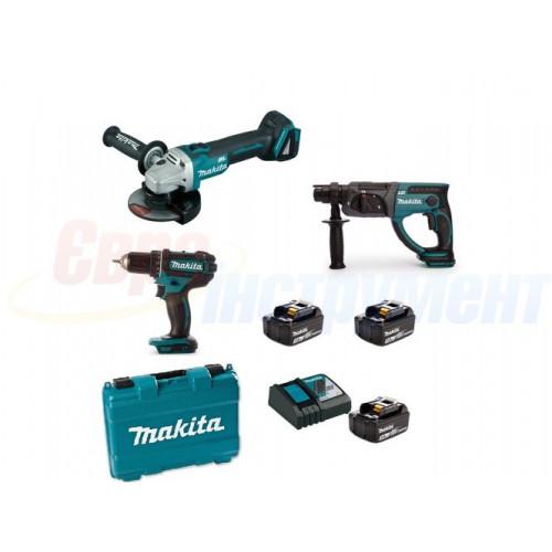 Набор аккумуляторного инструмента Makita DLXMUA504