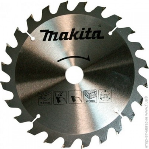 Диск пильный по дереву Makita ТСТ 165x20x16T D-52554