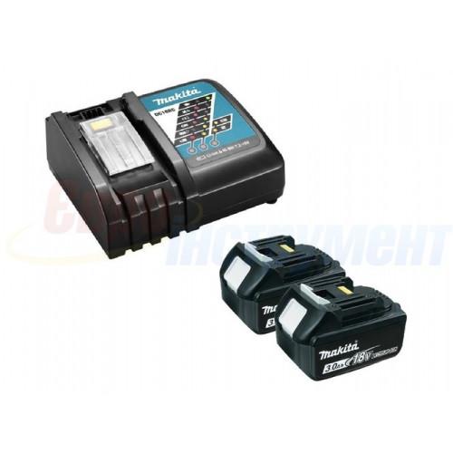 Набор аккумуляторов Makita LXT BL1830Bx2, DC18RC (DLXMUA182RC)