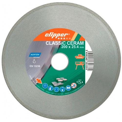 Диск алмазный по керамике Norton Clipper CLIPPER CLA CERAM 200x30/25,4 мм 70V023