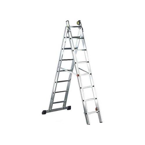 Двухсекционная лестница SVELT NEW LUXE 2 - 8+9 STEPS