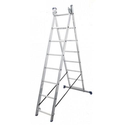 Лестница 2-х секционная VIRASTAR DUOMAX 2x8 (VDL028)