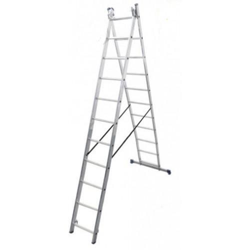 Лестница 2-х секционная VIRASTAR DUOMAX 2x11 (VDL211)