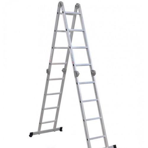 Шарнирная лестница-стремянка VIRASTAR Hercules 4x4 ступеней