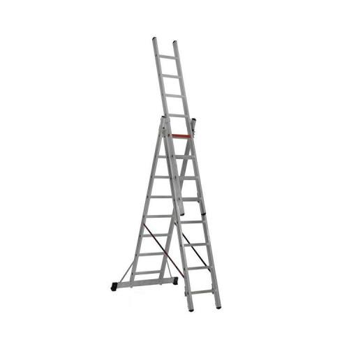 Трехсекционная алюминиевая лестница VIRASTAR 3x8 ступеней (TS175)