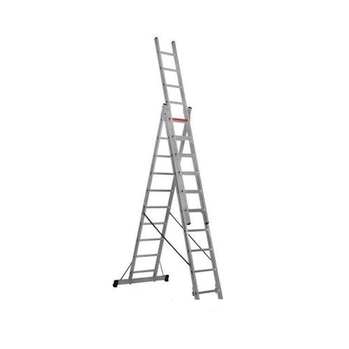 Трехсекционная алюминиевая лестница VIRASTAR 3x10 ступеней