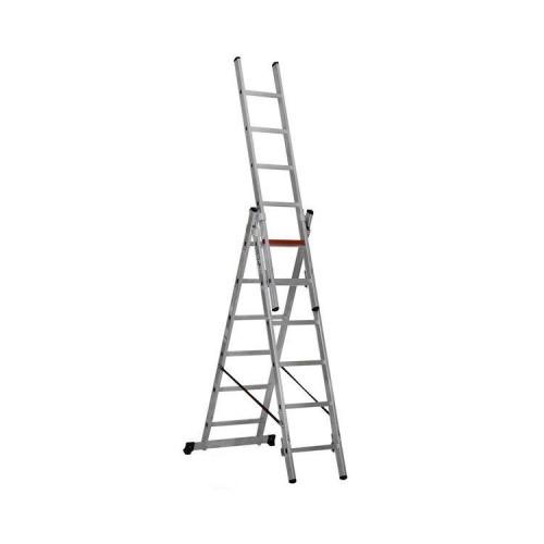 Трехсекционная алюминиевая лестница VIRASTAR 3x6 ступеней