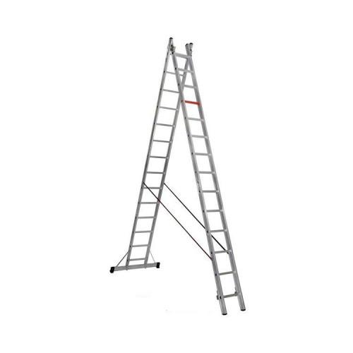 Двухсекционная алюминиевая лестница-стремянка VIRASTAR 2x14 ступеней