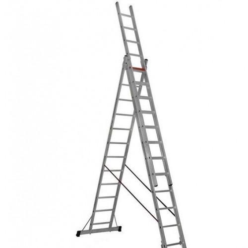 Трехсекционная алюминиевая лестница VIRASTAR 3x12 ступеней