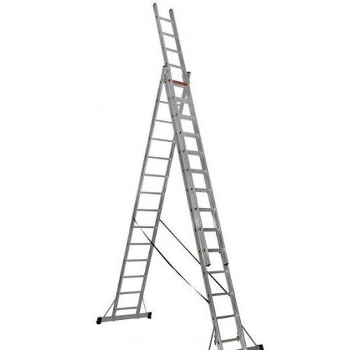 Трехсекционная алюминиевая лестница VIRASTAR 3x14 ступеней (TS220)