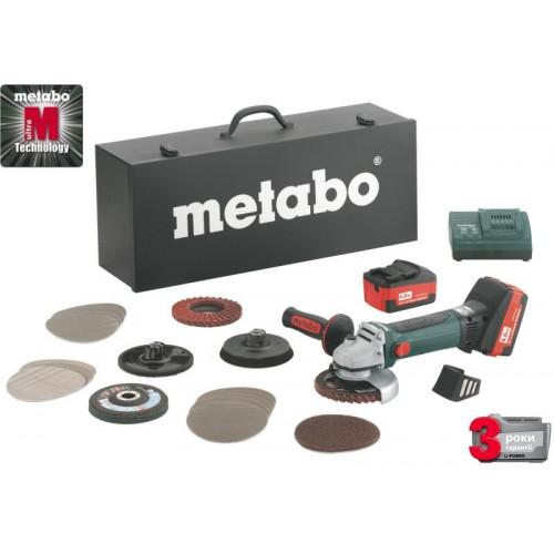 Акк. Угловая шлифмашина Metabo W 18 LTX 125 INOX