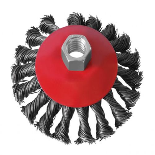 Щётка конусная 100мм, М14 плетеная проволока X-TREME