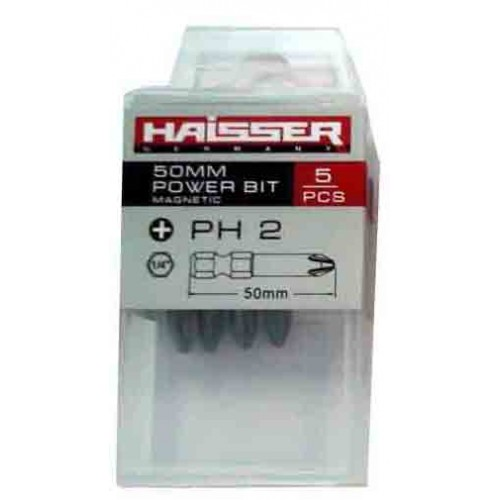 Набор бит HAISSER PZ2 х 50 мм, 5 шт