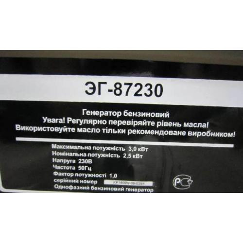 Бензиновый генератор ЭНЕРГОМАШ ЭГ-87230