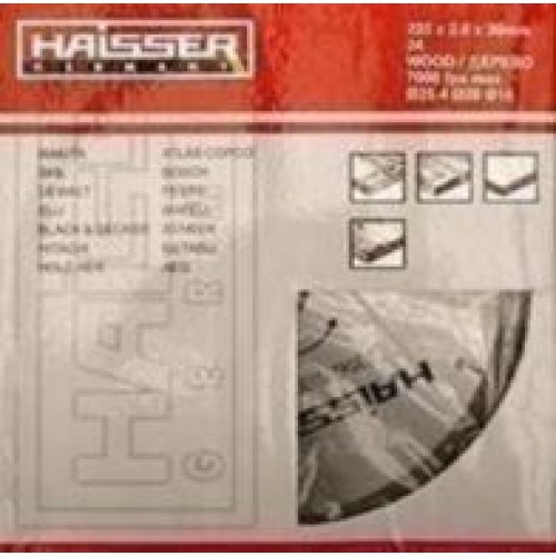 Диск пильный по ламинату (отриц. зуб) HAISSER 230х30 56 зуб.