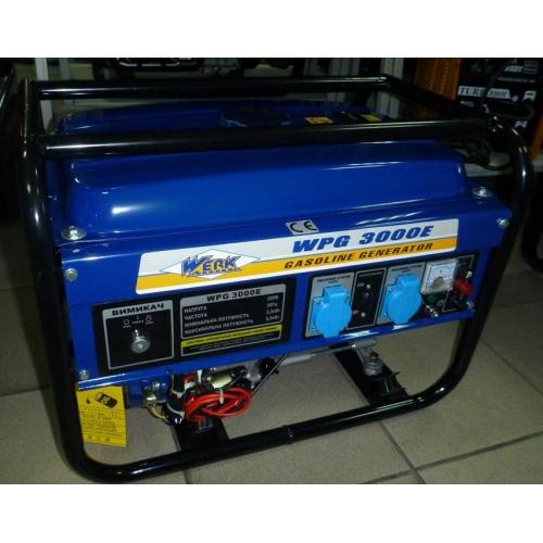 Бензиновый генератор WERK WPG 3000E