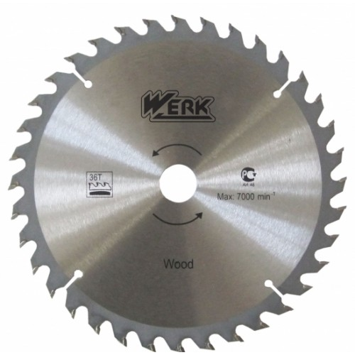Пильный диск по дереву 115X22.23, 24 зуб. Werk