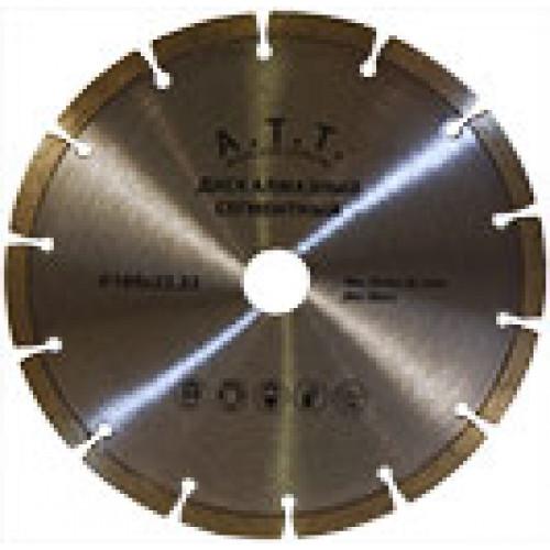 Круг отрезной с алмазным напылением ATT Сегментный 180*22,2 мм