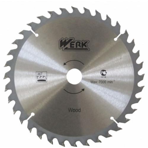 Пильный диск по дереву 190х30, 24 зуб. Werk